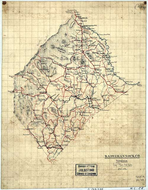 Maps Of Rappahannock County Virginia GenWeb - Counties of va map