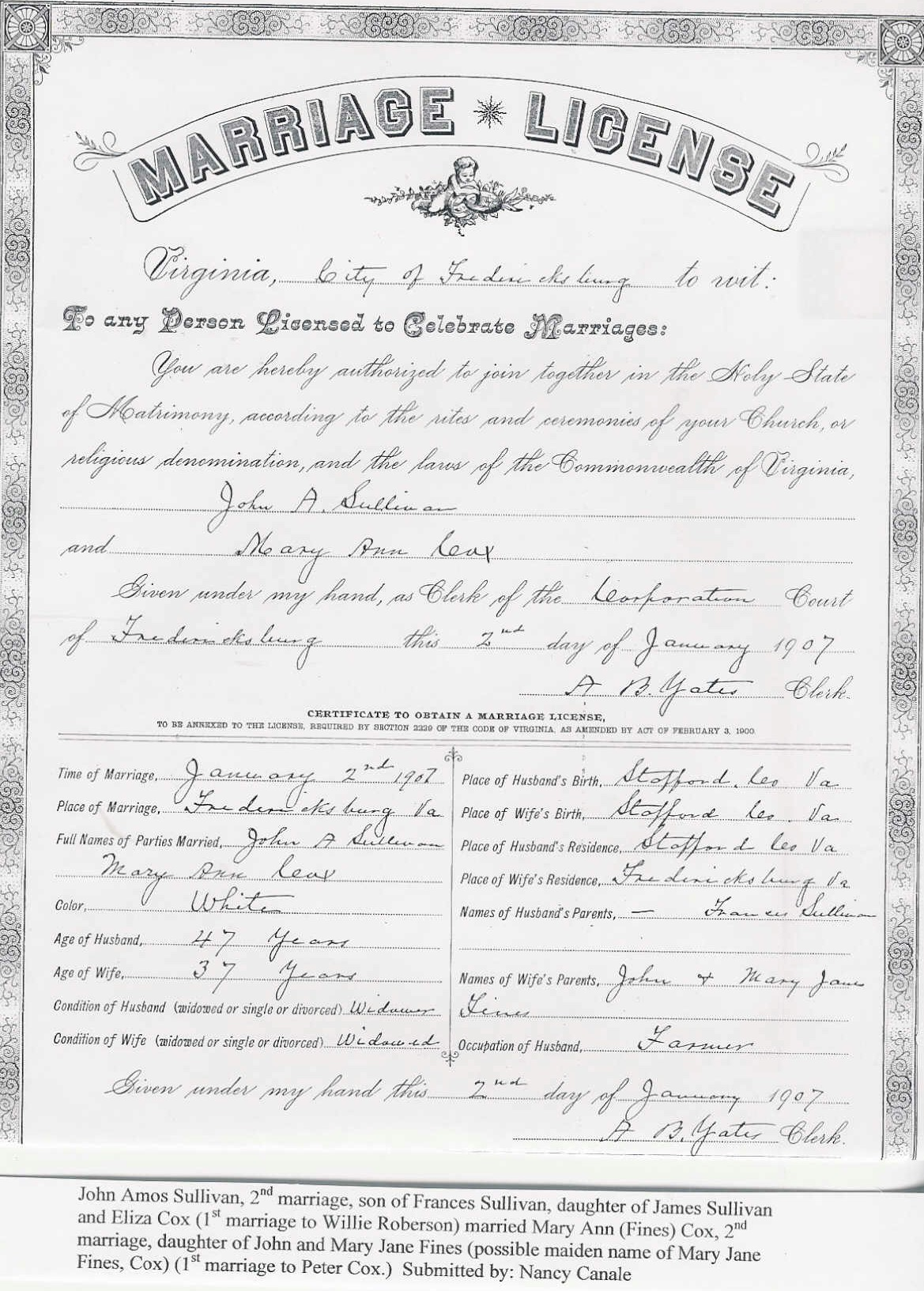 Contributed Marriage Records